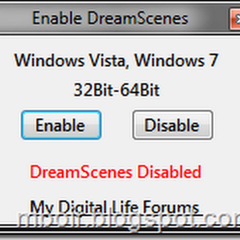 Enable DreamScene, Menjadikan Movie Sebagai Desktop Background