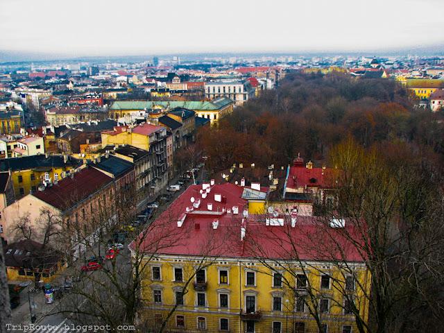 Вид на город с замка на Вавеле