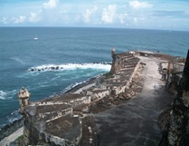View From the Bathroom at El Morro