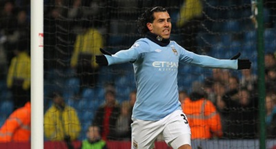 Carlos Tevez del Manchester City