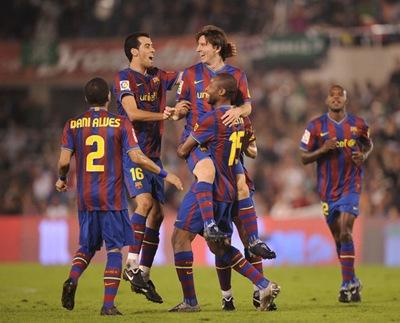 Barcelona 4, Racing Club de Santander 0