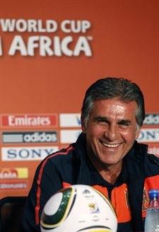 Carlos Queiroz, seleccionador nacional portugués