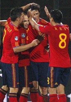 España venció 4-0 a Liechtenstein