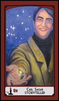 Queen of Wands - Carl Sagan, Storyteller