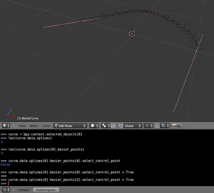 Selecting control points using Python : Method 1