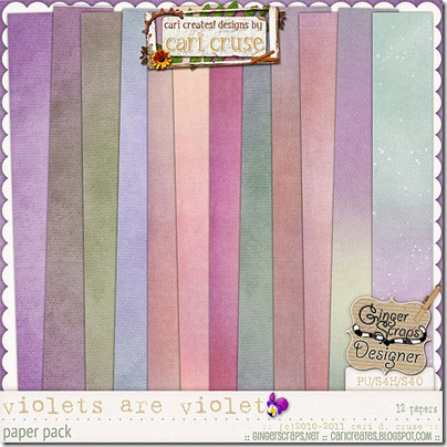 Violets Are Violet {the papers}