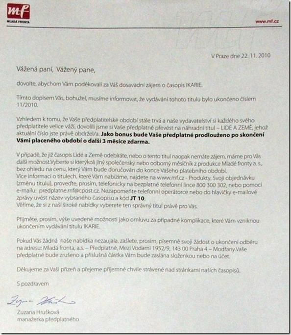dopis MF o zruseni