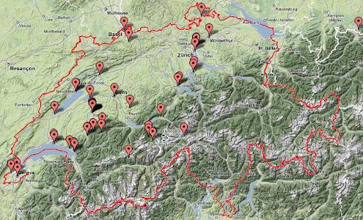 Lugares visitados en Suiza