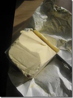 Skiva kylskåpskallt smör...