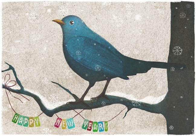 новогодняя птичка1