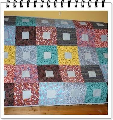 patchwork (foltvarrás) takaró