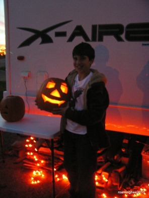Bryce with pumpkin