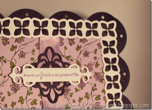 card detail spellbinders fleur de lis lotus border big scalloped border