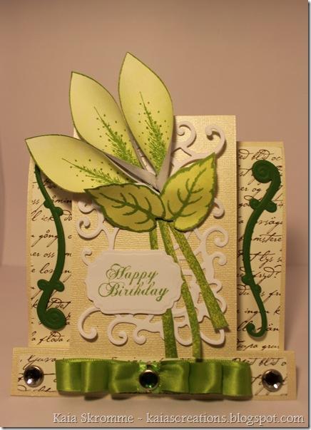 Green lilies heartfelt creations spellbinders