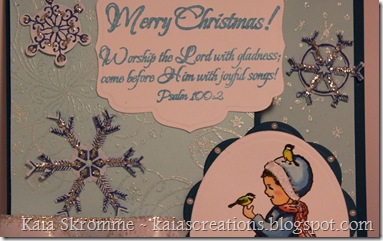 Spellbinders Labels Five Ovals Snowflake Shapeabilities Heartfelt Creations Chickadee surprise Worship the Lord ODBD2