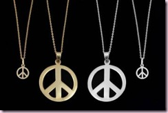 Ariane Arazi's peace signs