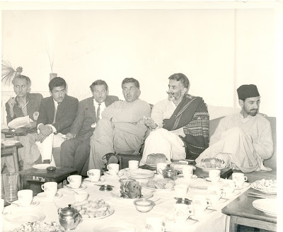 Gul Khan Nasir, Akbar Bugti, Ataullah Mengal and Amirulmulk Mengal