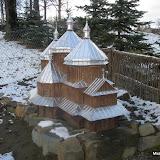 Макет української церкви, що стояла в Летовищах і яку розібрали для будівництва костьолу