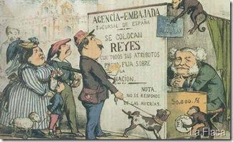 caricatura, subasta de reys, La Flaca