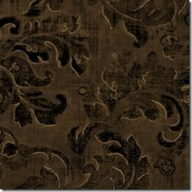 Brown Velvet Paisley