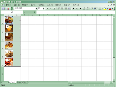 Excel 圖片隨著單元儲存格排序