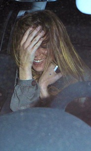 Semi-Exclusive: A Wasted Lindsay Lohan Leaving Jack Nicholson's House
