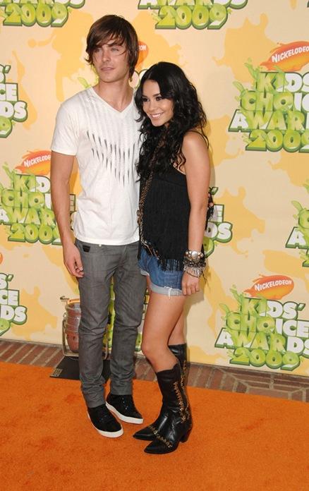 Vanessa y Zac Efron en los Kids' Choice Awards 2009