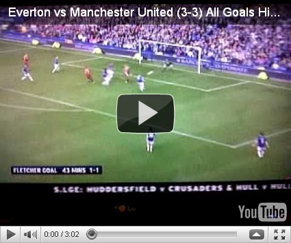 Everton vs Manchester United Highlights (3-3) All Goals (11-09-10 ...