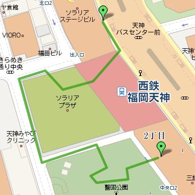 mapa Tenjin Fukuoka map 地図 天神 福岡