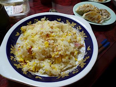 arroz frito, fried rice, tres delicias, チャーハン, 焼き飯, 餃子, gyoza, gyōza, rakkyo, rakkyō, ラッキョウ, 辣韮, 薤, 辣韭, calabaza, pumpkin, カボチャ