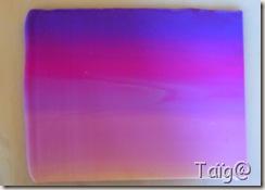 Plaque dégradé violets