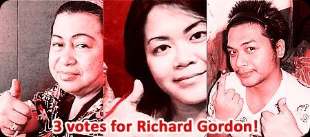 3 votes for Richard Gordon