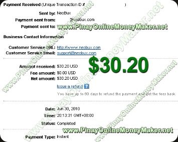 Neobux Payment Proof 2010 June 30