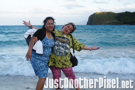 My mother with her best friend Tita Beth at Blue Lagoon - JustAnotherPixel.net