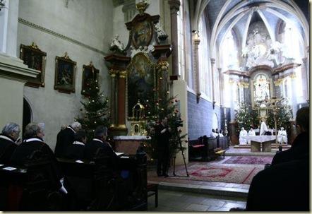 100 anos cerimônia na Igreja em Bratislava