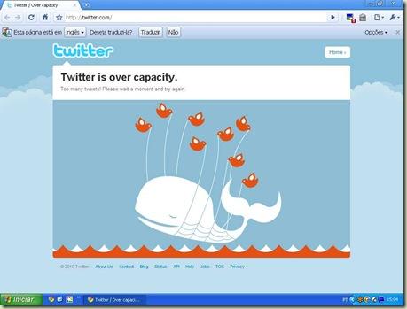 Twitter fora do ar por mais de uma hora