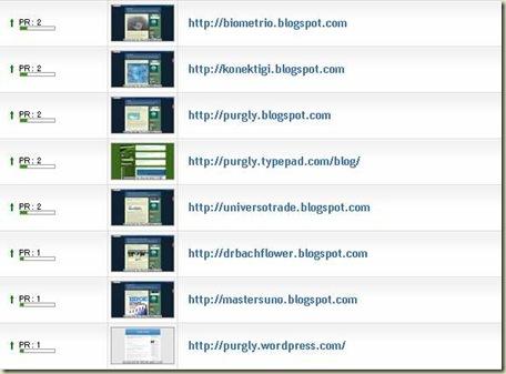 Page Rank de 11 de junho dos blogs
