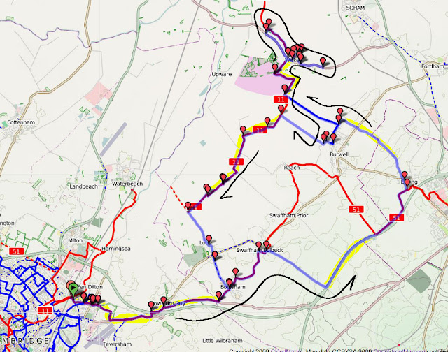Cambridge to Wicken Fen via Exning and back via Lodes Way Annotated.jpg