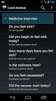 Screenshot of Czech Medical Phrases