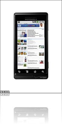 تلفن همراه موتورولا برپایه سیستم عامل آندروئید گوگل