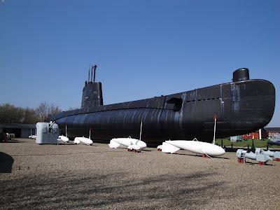 El submarino de la exposición