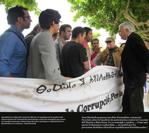 manifestacion dabans lo consultat del Marròc a Barcelona