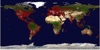 гаджет карта мира