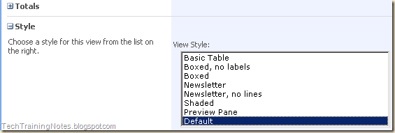 Sharepoint List View Styles Mike Smith S Tech Training Notes Br