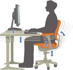 Biurko i krzesło dające się dostosować