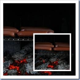 Pølsegrilling i peisen