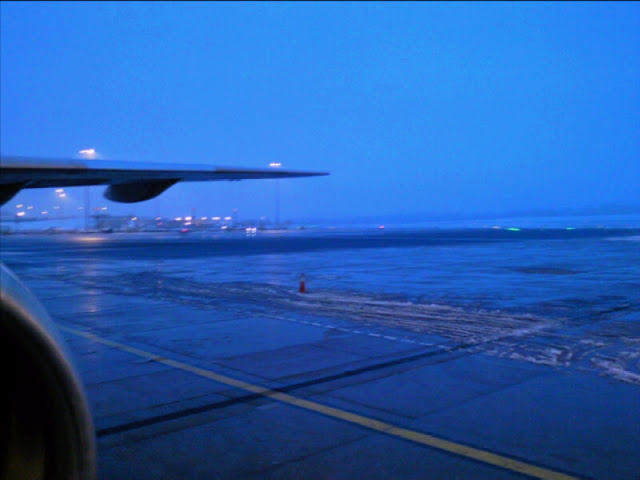 BHX airport in snow
