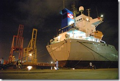 tanjung priok container sea port jakarta indonesia overload