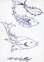 طراحی با خودکار از سید امین نبیپور   fish fisch leaf leafe برگ ماهی بحثی پیرامون نقوش اسلامی Islamic pattern art and arabesque