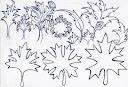 برگ چنار برگی چنای نقش نقوش اسلامی اسلیمی ختایی طراحی باخودکار اثر سید امین نبی پور
